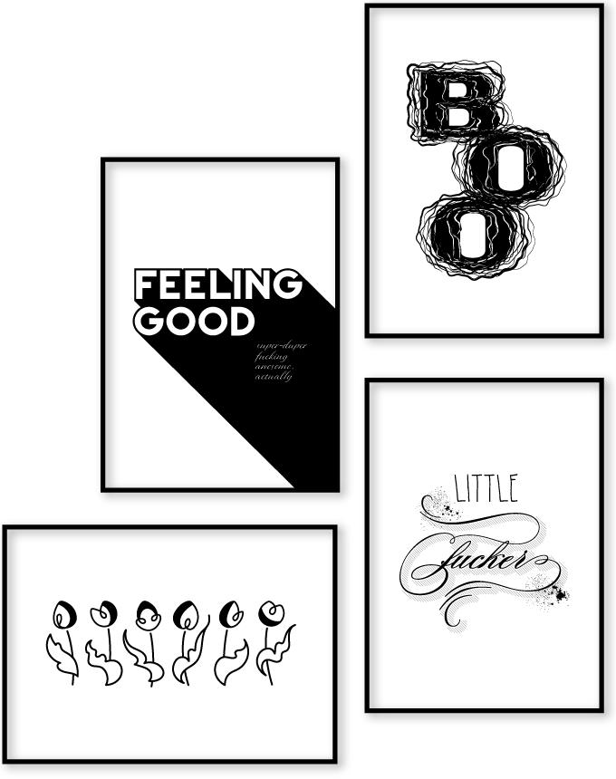 Poster gallery arrangement - Adoria Moon posters