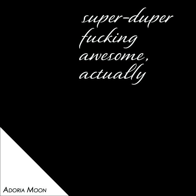 Feeling Good poster detail - Adoria Moon